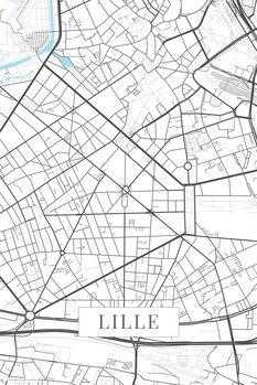 Carte de Lille white