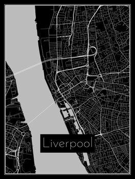 Stadtkarte von Liverpool