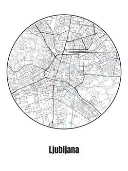 Mapa Ljubljana