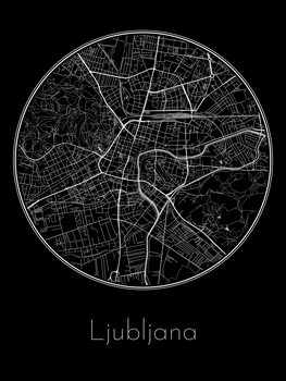 Mapa de Ljubljana