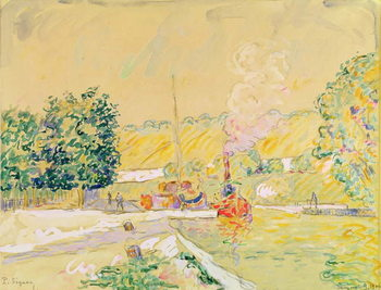 Lock at Sannois, 1900 Kunstdruk