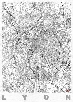 Stadtkarte von Lyon