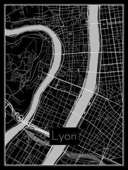 Kaart van Lyon