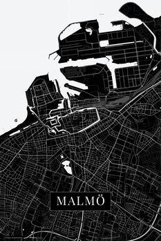 Mapa de Malmo black