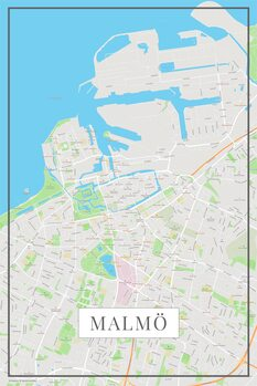 Mapa de Malmo color