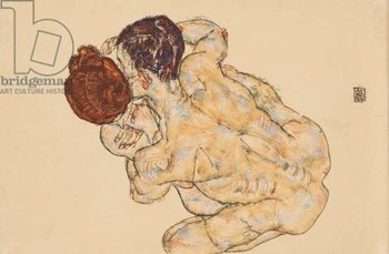 Man and Woman (Embrace); Mann und Frau (Umarmung), 1917 Kunstdruck