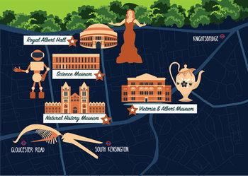 Map of South Kensington Obrazová reprodukcia