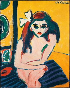 Marcella Painting by Ernst Ludwig Kirchner  1909-1910 Dim. 71,5x61 cm Stockholm Modern Museum Kunstdruck