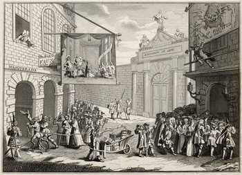 Masquerades and Operas, Burlington Gate, from 'The Works of Hogarth', published 1833 Kunsttryk