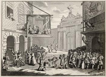 Masquerades and Operas, Burlington Gate, from 'The Works of Hogarth', published 1833 Kunstdruk