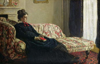 Reproducción de arte Meditation, or Madame Monet on the Sofa, c.1871
