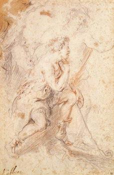 Mercury and a Shepherd Kunsttryk