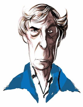 Michael Tippett, British composer , colour caricature, 2005 by Neale Osborne Kunstdruck