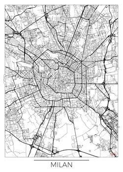 Stadtkarte von Milan