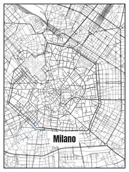 Mapa de Milano