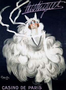 Mistinguett (1872-1956) at Casino de Paris, 1920, poster illustrated by Leonetto Cappiello , France, 20th century Reproduction de Tableau