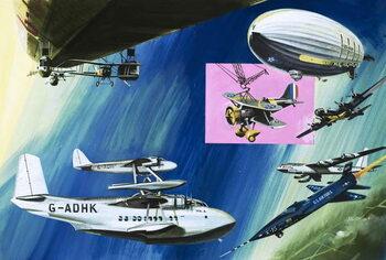 Reproducción de arte Montage of aerial aircraft carriers