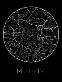 Mapa de Montpellier