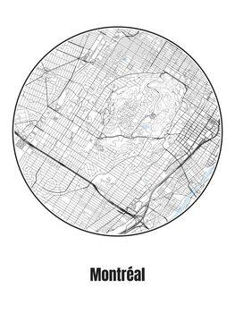 Mapa de Montréal