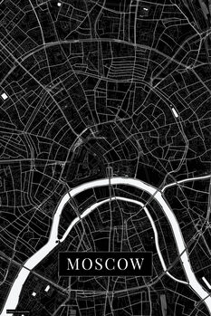 Mapa de Moscow black
