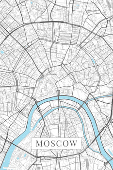Mapa de Moscow white