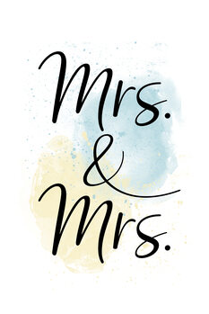 Illustration Mrs. & Mrs.