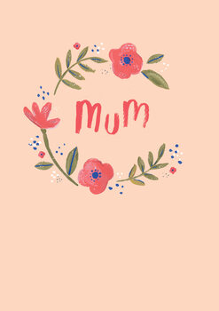 Illustration Mum floral wreath