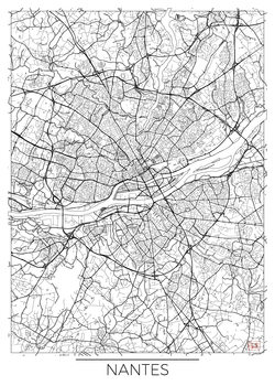 Mapa de Nantes