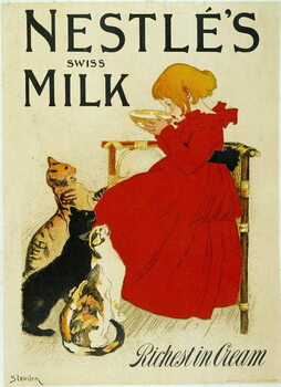 "Nestle Advertising: """" Nestle's swiss milk"""". Kunstdruck"