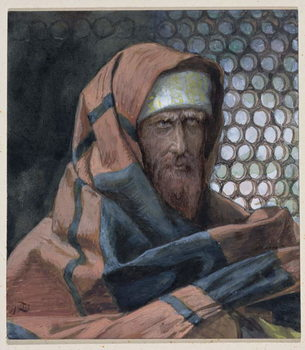 Nicodemus, illustration for 'The Life of Christ', c.1886-94 Reproduction de Tableau