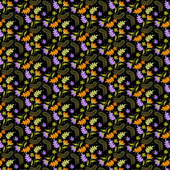 Night Leaves pattern Obrazová reprodukcia