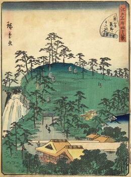 No.44 Twelve Shirines of Kumano at Tsunohazu, January 1861 Kunstdruck