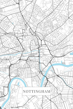 Mapa Nottingham white