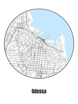 Mapa de Odessa