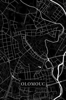 Stadtkarte von Olomouc black