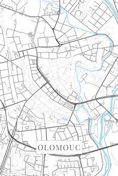 Stadtkarte Olomouc white
