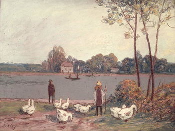 On the Banks of the Loing Kunsttryk