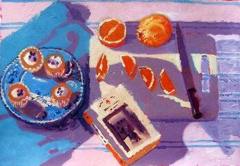 Oranges Kunstdruck