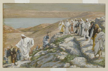 Ordaining of the Twelve Apostles, illustration from 'The Life of Our Lord Jesus Christ' Reproduction de Tableau