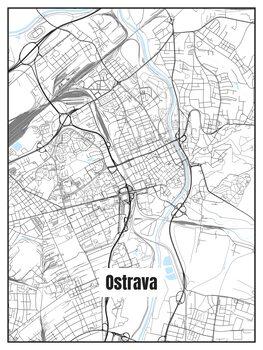 Stadtkarte von Ostrava