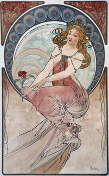 Painting - by Mucha, 1898. Reproduction de Tableau