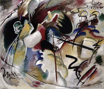 Painting with white form, 1913 Kunsttryk