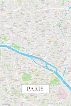 Carte de Paris color