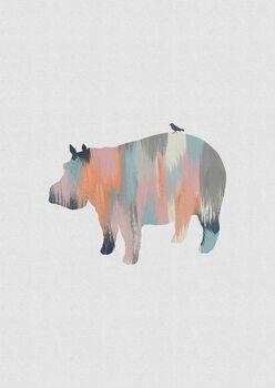 Illustration Pastel Hippo