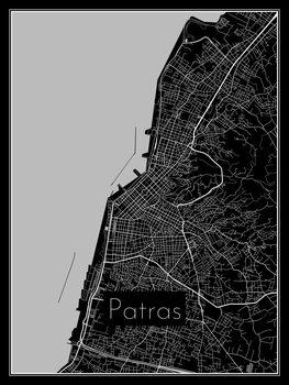 Stadtkarte von Patras