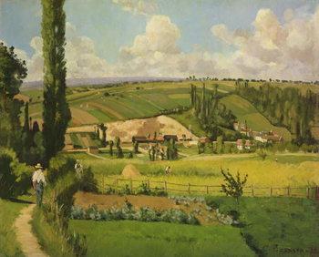 Paysage aux Patis, Pointoise, 1868 Kunstdruk