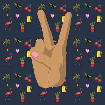 Peace and Love Kunstdruk