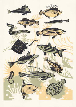 Peach Seaweed Fish, 2015 Kunstdruck