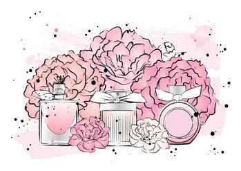 Ilustración Peony Perfumes2