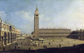 Piazza San Marco, Venice Reproduction de Tableau